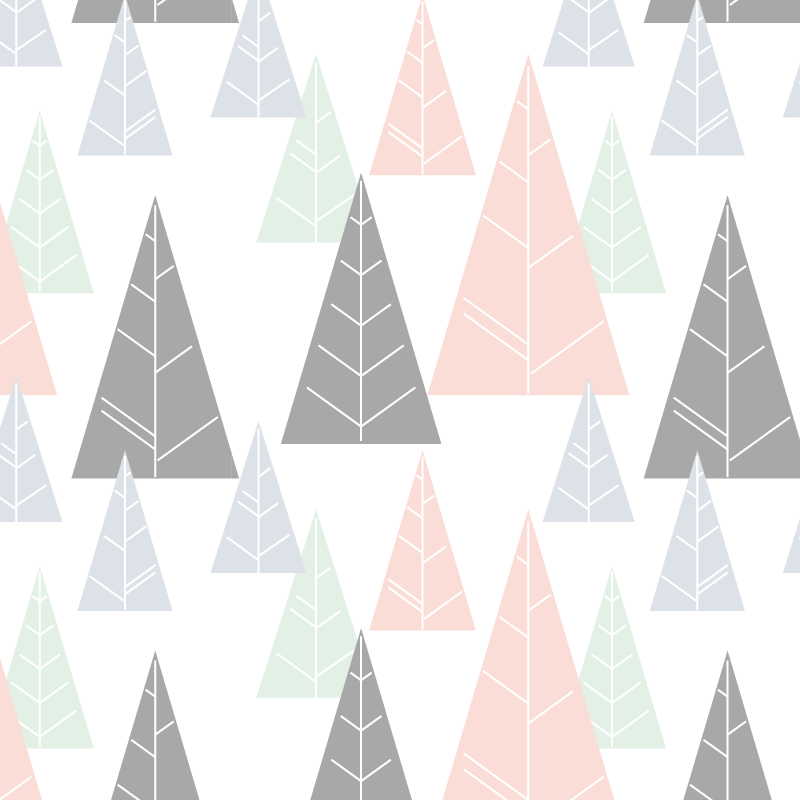 TenStickers. 겨울 전나무 가구 데칼. 가정의 캐비닛, 서랍 및 옷장의 표면을 감싸도록 설계된 장식용 겨울 전나무 가구 스티커. 적용하기 쉽습니다.