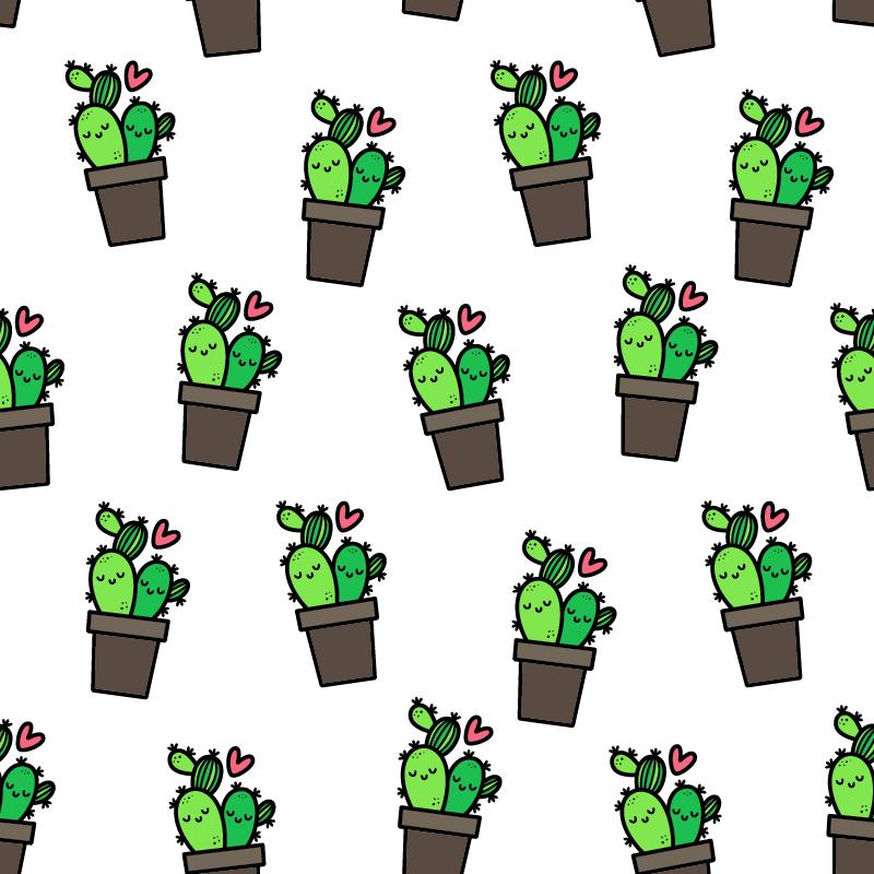 Tenstickers. Kaktuskuviointi huonekalujen tarra. Koristekalustetarra kaktuskasvikuvioisella kaapelilla ja laatikoilla kodin tilaa varten. Helppo levittää ja saatavilla kaikenkokoisina.