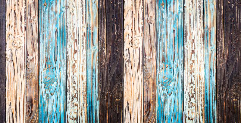 TenStickers. Meubelstickers blauw geschilderd hout. Interessante houten tafelblad stickers en houten kast stickers: Op maat gemaakte meubelsticker hout patroon voor woonkamers en slaapkamers!