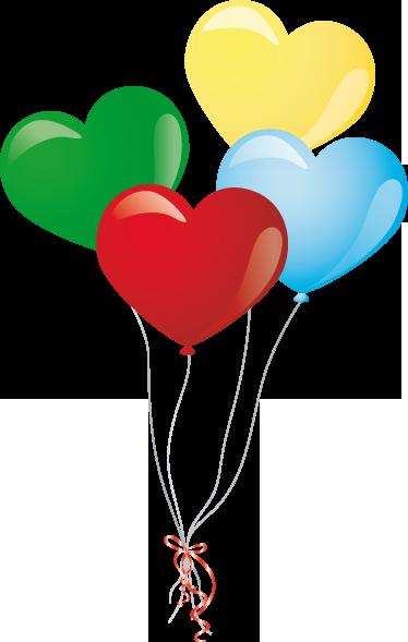 TenStickers. Sticker hartjes balonnen. Een decoratiesticker van een set ballonnen in de vorm van een hartje. Een leuk idee voor de decoratie van de uitstalramen in uw zaak.