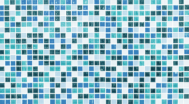 TenStickers. Blue Mosaic vinyl sheet. The perfect furniture vinyl for your kitchen or your bathroom will be this home decor decal, representing a mosaic made of several blue colours !