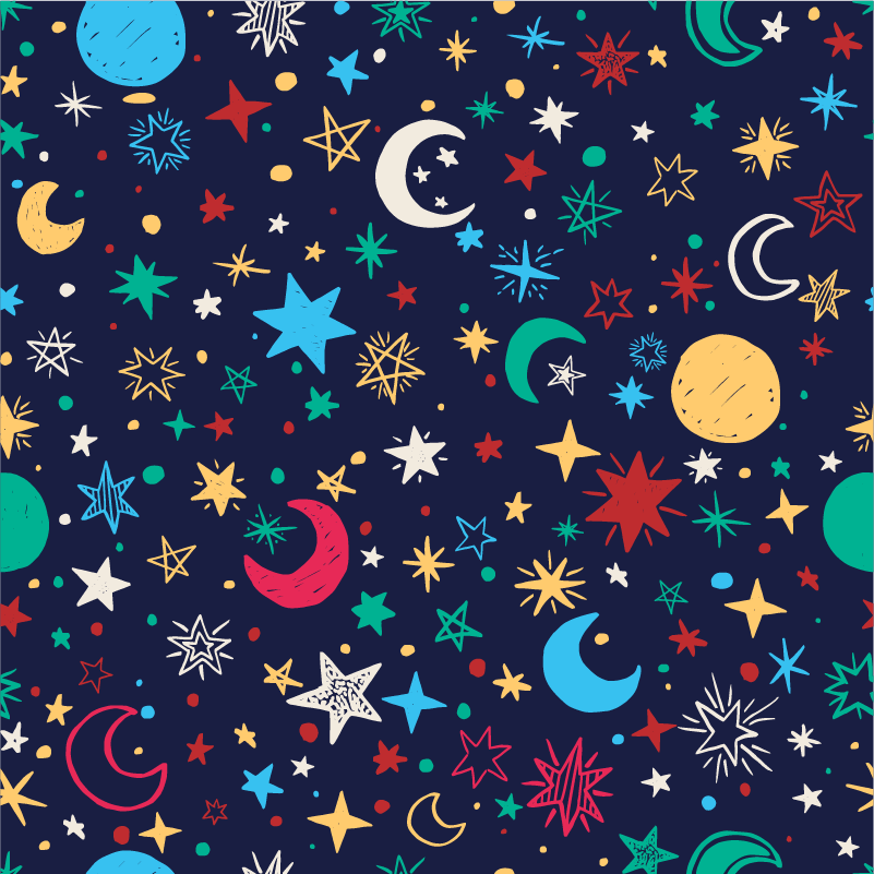 TenStickers. Sky full of stars furniture sticker. This furniture sticker represents several stars, planets and moons, to give the illusion of a beautiful galaxy in the bedroom of your children