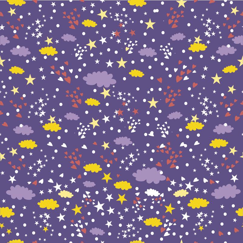 Tenstickers. Tähdet ja pilvet huonekalutarra. Haluatko piirtotarraa kalustemerkkinä lapsesi makuuhuoneelle? Tämä tila-tarra sopii täydellisesti mihin tahansa huonekaluun