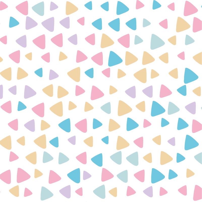 TenVinilo. Vinilo infantil para muebles de triángulos pastel. Vinilo para muebles de colores pastel geométricos para decoración de armarios y cajones de dormitorios infantiles ¡Fácil de aplicar y autoadhesivo!