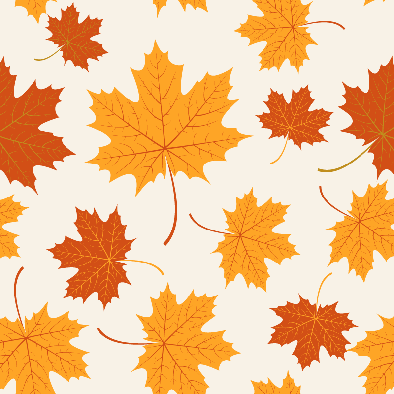 TenStickers. Autumn Leaves vinyl sheet. This furniture sticker will please all the lover of the season of Autumn : beautiful leaves made for your living room or your bedroom.