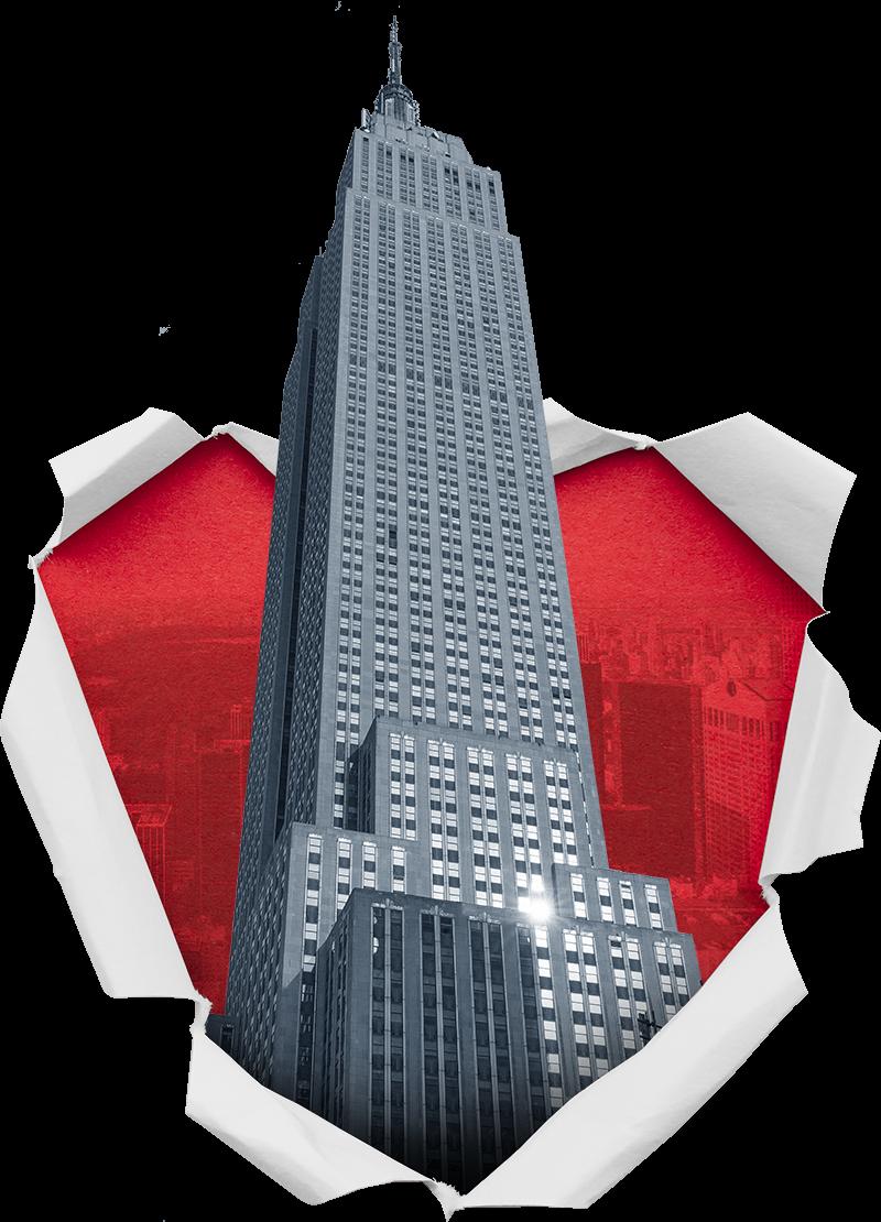 TenStickers. Muurstickers tienerkamer Empire State building. Mooie New York muursticker voor in de woonkamer: New York stickers en Empire Sate building stickers voor in de woonkamer en slaapkamer!