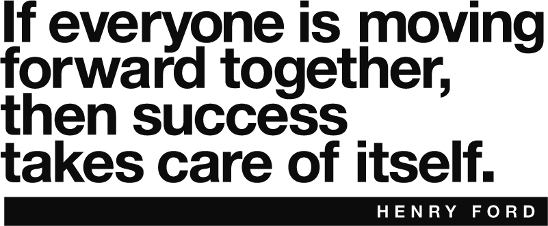 TenStickers. Henry Ford Success Wall Text Sticker. Remind yourself of the importance of moving forward together in a team with this superb wall text sticker! Easy to apply.