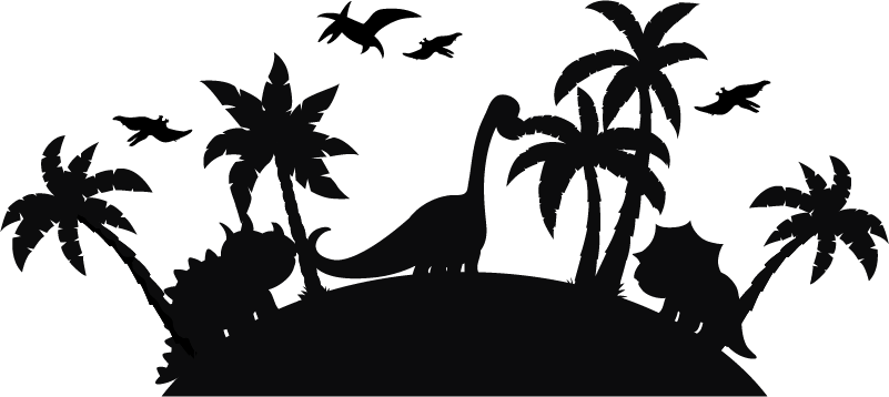 TenStickers. Jurassic Parc Home Wall Sticker. If you want a wall sticker for kid that will make your child travel through time, we have the drawing wall decor of dinosaurs you need !