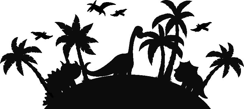 TenStickers. Jurassic parc wandtattoo. Wenn sie einen Wandtattoo für Kinder haben möchten, der ihr kind durch die zeit reisen lässt, haben wir das passende Wandtattoo für sie!