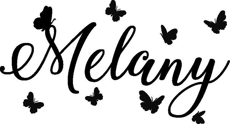 TenStickers. Sticker Maison Prénom avec papillons. Pour un autocollant texte personnalisé pour la chambre de votre enfant, cet autocollant de prénom et de papillons élégants sera parfait.