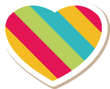 TenStickers. Colourful Heart Sticker. A decorative heart window decal from our collection of heart stickers to decorate your shop front window or any space at home.