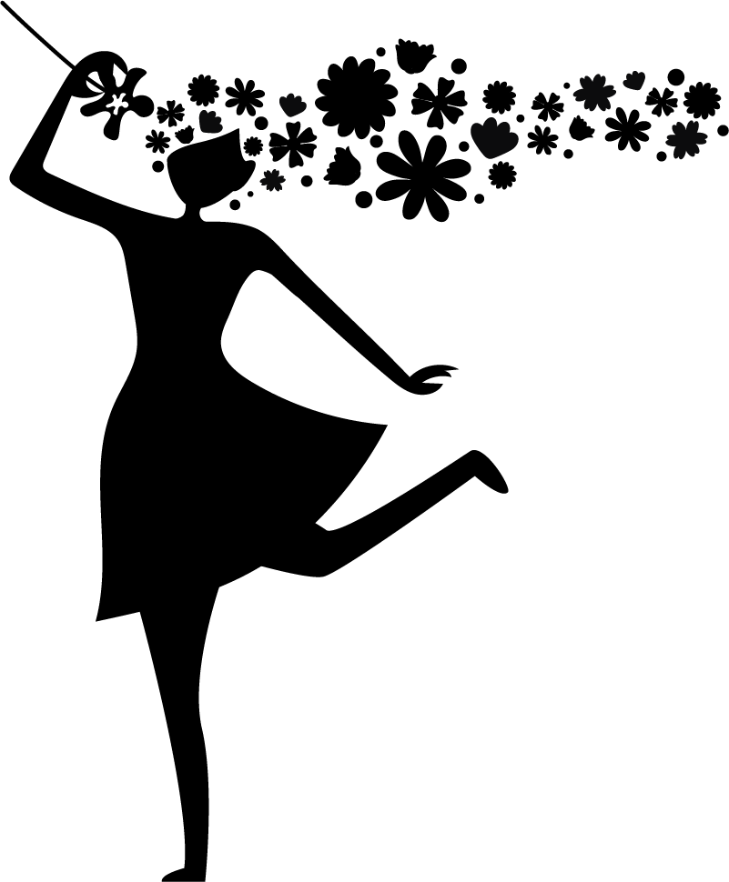 TenStickers. Sticker Silhouette Silhouette femme printanière. Qu'y a-t-il de mieux qu'un autocollant mural dessin pour fêter l'arrivée du Printemps ? Pour une atmosphère légère et fleurie.