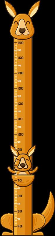 TENSTICKERS. カンガルーメーター高さチャートステッカー. カンガルーのデザインの子供部屋の高さチャート壁ステッカー。簡単に適用できる、よく較正された高さ計。
