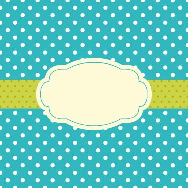 TenStickers. Sticker étiquette à pois. Sticker vert à pois blancs orné d'une bande centrale vert pomme. Décorez vos murs (ou autres surfaces) avec cet adhésif.