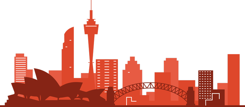TenStickers. Sydney Skyline Silhouette Sticker. The Sydney skyline is an absolutely stunning piece of silhouette decor for anyone who wishes to pay tribute! 10,000 satisfied customers.