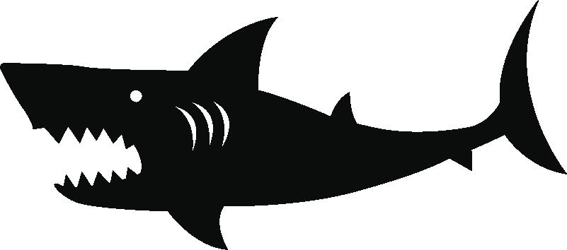TenStickers. Disegno per pareti Carsticker di squalo. Adesivi per auto robuste, adesivo auto ideale squalo arrabbiato come adesivo auto animali personalizzati e adesivi per auto animali. Goditi la decorazione di adesivi per auto animali!
