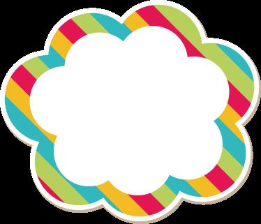 Sticker babykamer wolk naam