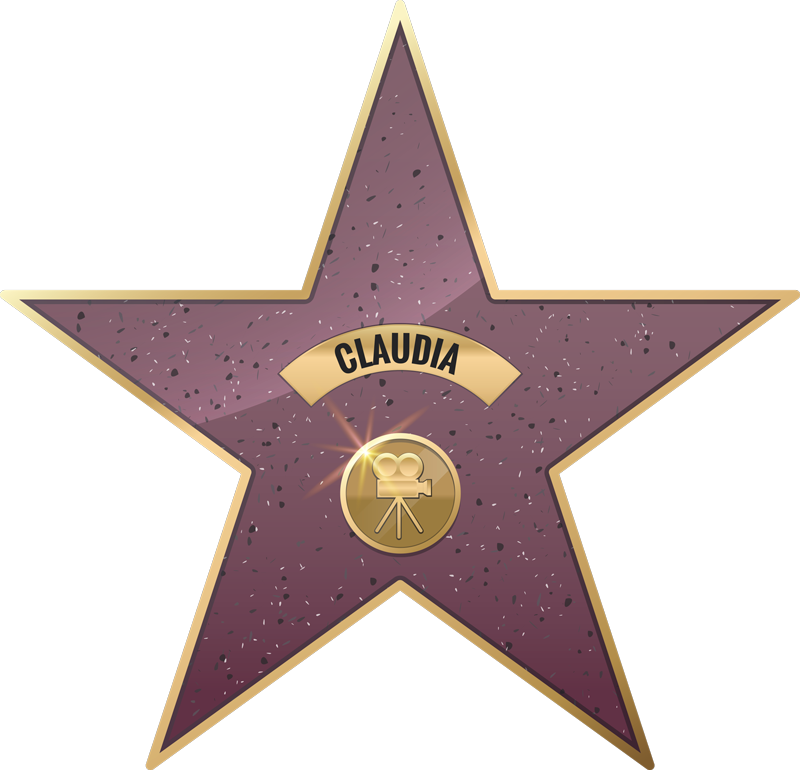 TenStickers. Named walk of fame star cinema decal. Customisable walk of fame star sticker. provide the name needed for the design and it will be made ready. It is available in nay required size.