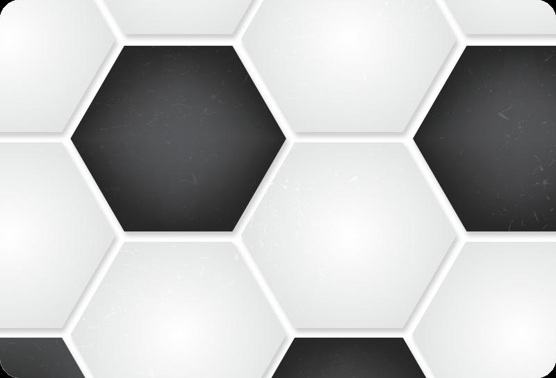 TenStickers. Fußball Muster Laptop Aufkleber. Dekorativer Fußballmuster Laptop Aufkleber, um eine Laptop-Oberfläche vollständig zu verzieren. Einfach anzuwenden und in jeder gewünschten Größe erhältlich.