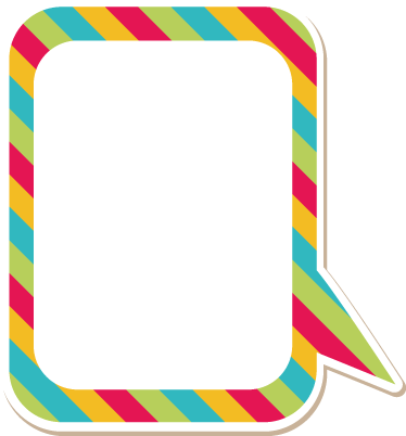 TenStickers. Colourful Customisable Speech Bubble Sticker. Customisable - Promotional - Business Stickers - Room Stickers - Colourful frame speech bubble