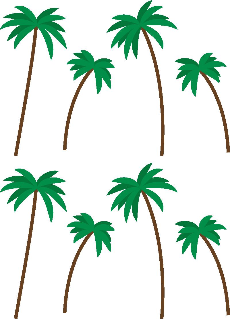 TenStickers. Muurstickers bloemen kleine palmboompjes printje. Unieke palmboom print muursticker voor de woonkamer. Geniet van leuke palmboopjes printje sticker voor de muur. Palmbomen muursticker in alle maten!