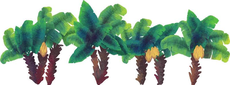 TenStickers. 水彩棕榈树墙贴花. 装饰水彩棕榈树墙贴,用于床头板和房屋中的任何其他空间。易于应用,并且可以按任何所需大小提供。