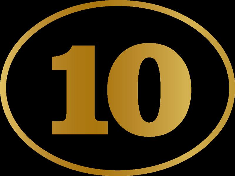 TenStickers. Motor stickers gouden nummer 10. Leuke auto sticker gouden nummer, een leuk idee voor je auto bumper! Deze gouden nummer autosticker is in alle maten en nummers verkrijgbaar!