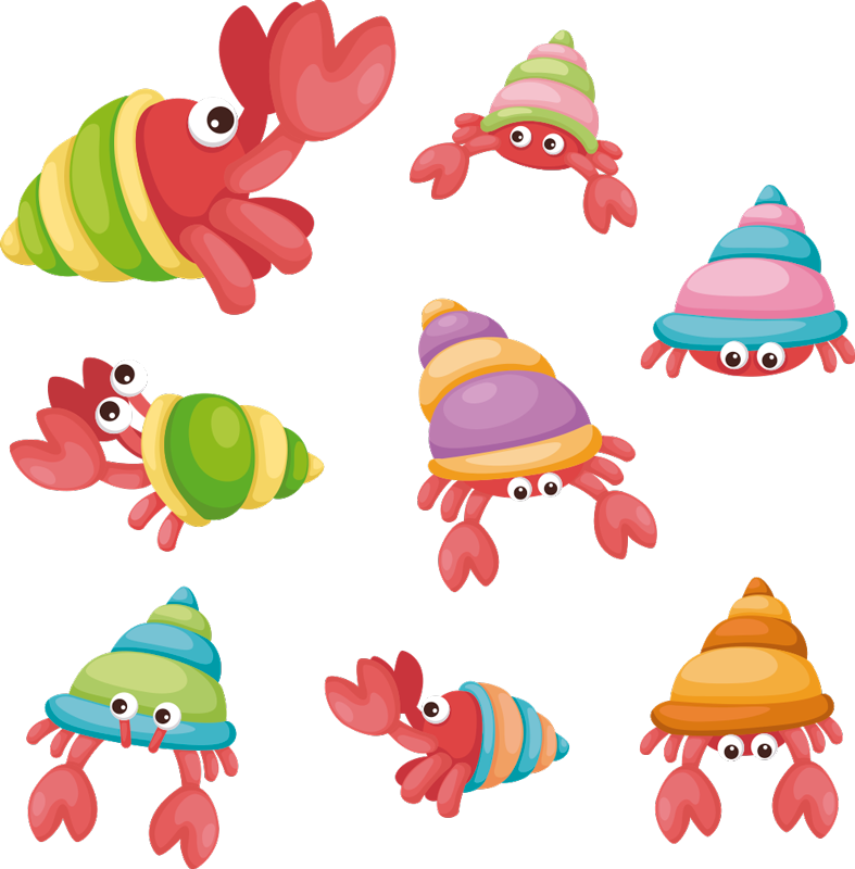 TenStickers. sea animals crabs animal wall sticker. Funny crabs wall stickers. Enjoy the crab wall stickers and sea animal wall stickers. Our crab wall stickers are ideal for all types of rooms!