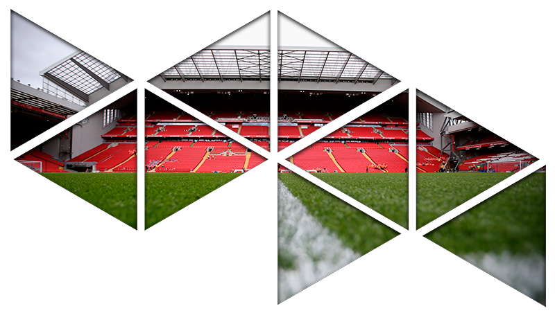 TenStickers. Anfield Visual Effects Wall Mural sticker. Decorate your home in the theme of your favourite football team with this fantastic Liverpool sticker! Available in 50 colours.