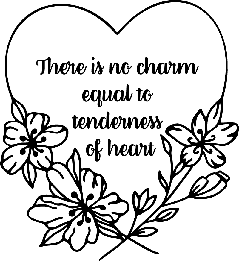 TenStickers. Jane Austen Heart Living Room Wall Decor. There really is no charm equal to tenderness of heart, so why not portray that with this superb literature wall sticker! Choose your size.