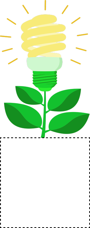 TenVinilo. Vinilo para interruptores contaminación lumínica. Pegatina para interruptores formada por el diseño de una planta, la flor de la cual está representada con una bombilla. +50 Colores Disponibles.