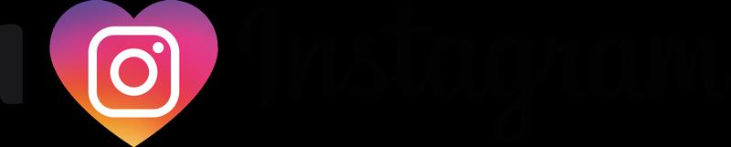 """Tenstickers. Rakastan instagramin kotiseinän tarraa. Tämä rakennusmerkki """"i love instagram"""", jossa on instagram-logo, sopii täydellisesti teini-ikäiseen makuuhuoneeseen tai toimistoon. Anti-kupla vinyyli."""