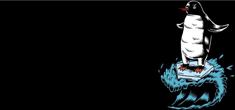 """TenVinilo. Vinilo original salva el cambio climático. Pegatina formada por el texto """"SALVA EL CAMBIO CLIMÁTICO"""" acompañada de un pingüino surfeando sobre una placa de hielo. Envío Express en 24/48h."""