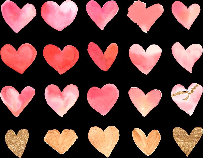 TenStickers. Satz Herzen für Liebe Wandtattoo. Bunter Liebe Wandaufkleber entworfen in mehreren Sätzen von Herzen. Einfach aufzutragen und aus bestem Vinyl hergestellt. In jeder gewünschten Größe erhältlich.
