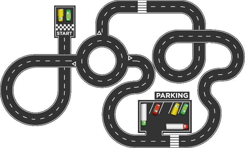 TenVinilo. Vinilo suelo circuito coches infantil. Original suelo vinílico para habitación infantil formado por el diseño de un circuito de coches. Compra Online Segura y Garantizada.