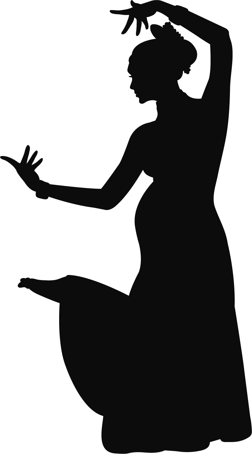 TenStickers. Indian woman silhouette wall sticker. An Indian personality silhouette wall decal designed with a typical dance  posture position of an Indian woman. Available in nay required size.