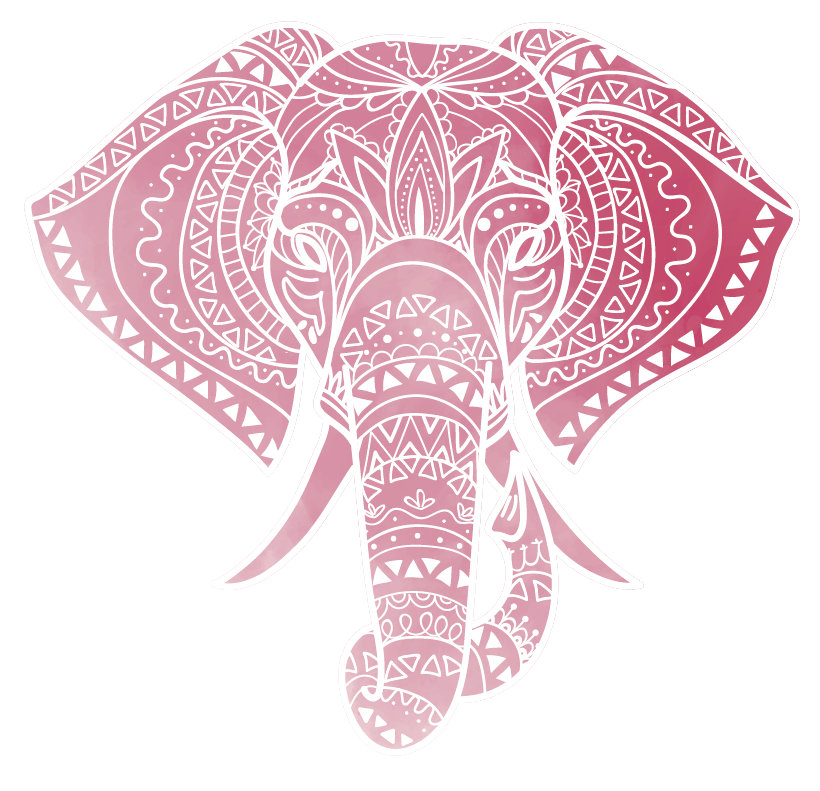 TenStickers. Muurstickers tienerkamer bohemian olifant. Deze bohemian olifanten wanddecoratie is de perfecte interieure decoratie voor mensen die hun persoonlijke ruimte een hippe look willen geven.