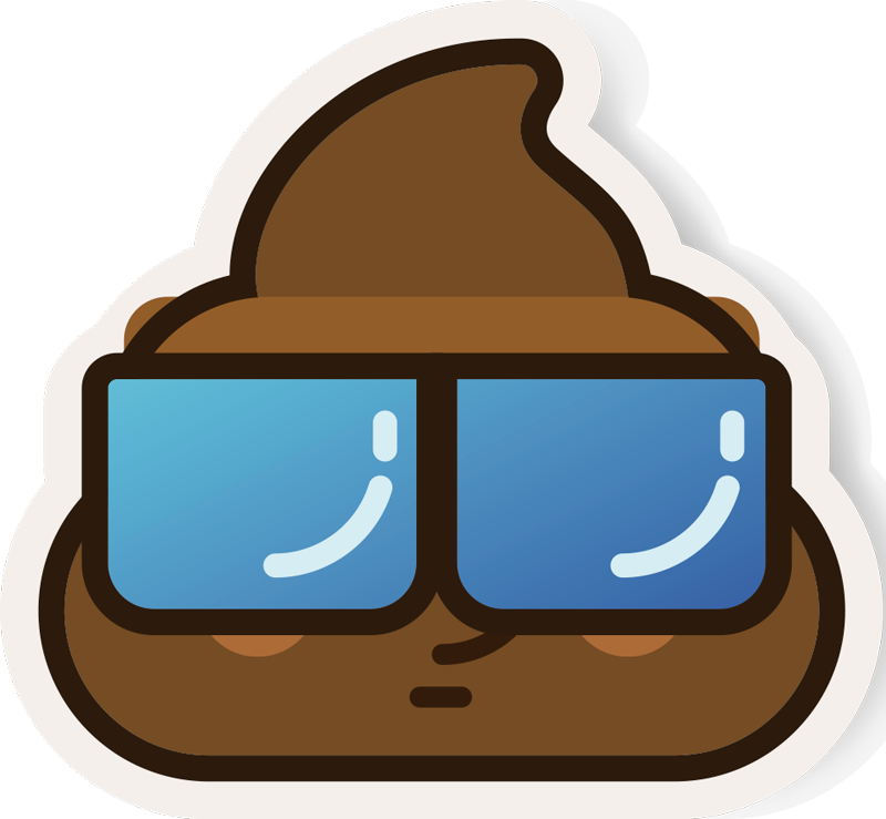 TenStickers. Poo Whatsapp Emoji Samsung Sticker. Add some unique and original phone decor to your Samsung - With a sticker depicting the poo emoji, would you believe! +10,000 satisfied customers.