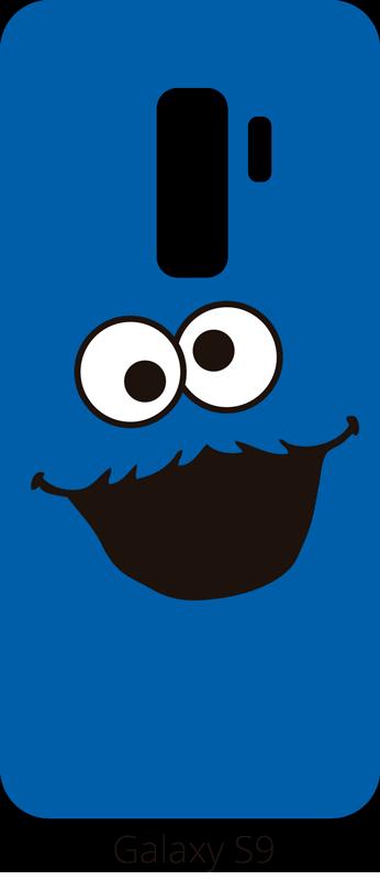 TenVinilo. Vinilo para móvil Triky. Sticker para móviles de la marca Samsung con tu personaje favorito de tu infancia, el famoso monstruo devora galletas de Barrio Sésamo.