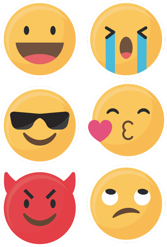 TenStickers. Emoji Set Samsung Sticker. Decorate your Samsung with this fantastic selection of emoji phone stickers, ideal for only the Samsung! Extremely long-lasting material.