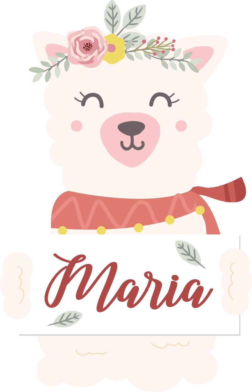 TenVinilo. Vinilo animal Alpaca. Original pegatina personalizada para habitación infantil formada por el diseño de una alpaca. Atención al Cliente Personalizada.