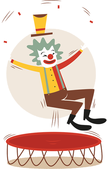 TenStickers. Happy Clown Kids Sticker. Kids Wall Stickers - Fun, colourful and playful illustration of a clown. Ideal for decorating bedrooms and areas for children.