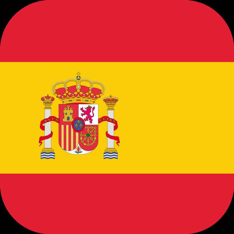 TenVinilo. Pegatina pequeña bandera españa. Resistente pegatina decorativa adhesiva para iPhone formada por el diseño de la bandera de España. +50 Colores Disponibles.