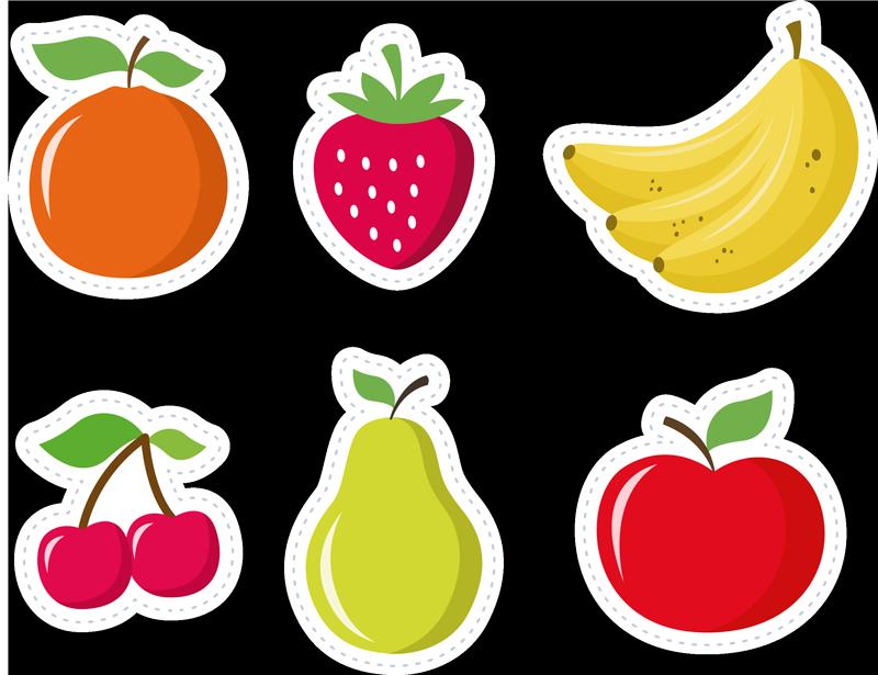 TenStickers. Sticker Gastronomie Fruits. Pour un adhésif déco coloré et original pour la coque de votre iPhone, rien de tel que ce set de stickers de fruits ! Service Client Rapide.