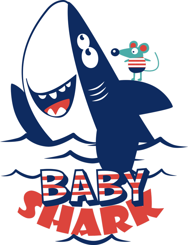 TenStickers. Baby Shark Children´s Sticker. If you love Baby Shark then you will surely love this fantastic childrens sticker paying tribute to it! Sign up for 10% off.