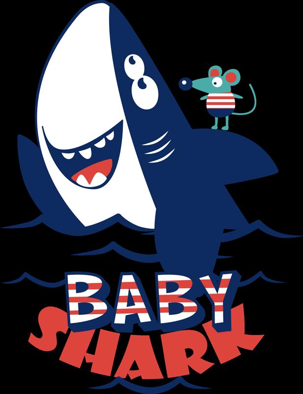 TENSTICKERS. 赤ちゃんのサメの子供のステッカー. あなたが赤ちゃんサメを愛しているなら、あなたはそれへのオマージュを払ってこの素晴らしい子供のステッカーをきっと愛するでしょう! 10%オフにサインアップしてください。