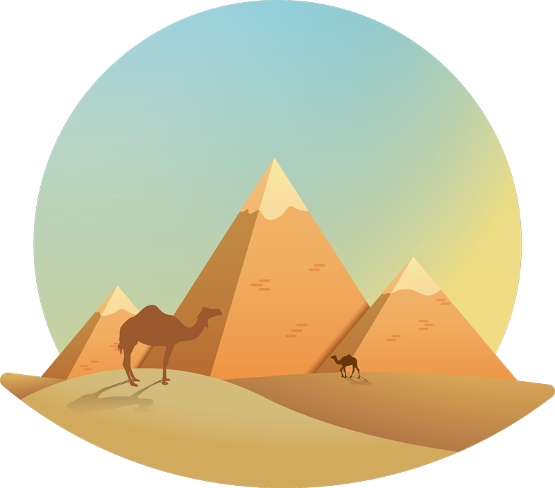 TenStickers. Desert Living Room Wall Decor. Decorate your home with this fantastic wall art sticker depicting the superb image of a sunny desert! Zero residue upon removal.