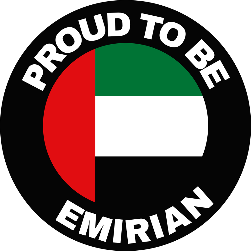 TenStickers. Proud to be Emirian Car Sticker. If you are a proud citizen of the UAE then this Emirian themed car sticker might just be ideal for whichever vehicle you drive!