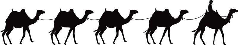 TenStickers. Camel Caravan Living Room Wall Decor. Turn any room in your home into a desert oasis with this beautiful camel caravan silhouette wall sticker. Choose from over 50 colours!