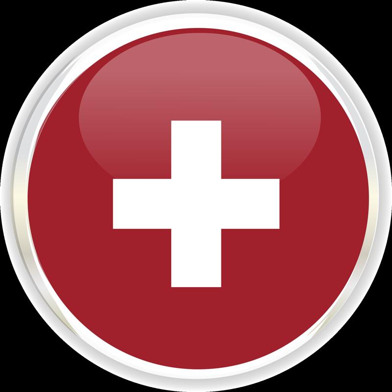 TenStickers. Aufkleber Fahrzeug Schweizer Flagge Logo. Sie möchten einen neuen Aufkleber für Ihr Fahrzeug? Allerdings möchten Sie keinen großen Welt Aufkleber, sondern eher etwas kleineres personelles?